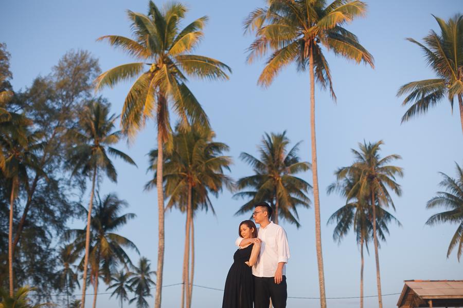 prewedding at beach malaysia